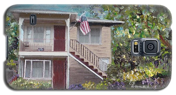 Galaxy S5 Case featuring the painting Alameda 1908 Duplex  by Linda Weinstock