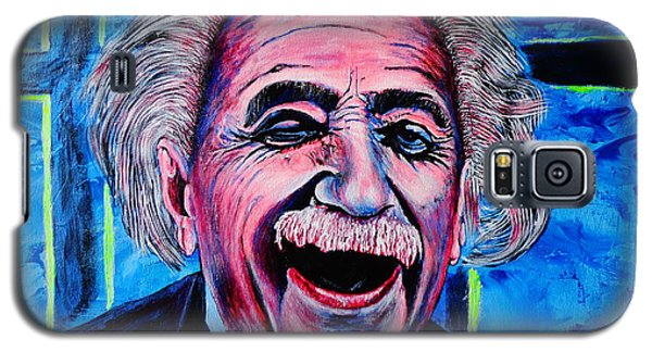 Galaxy S5 Case featuring the painting Albert Einstein by Viktor Lazarev