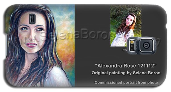 Galaxy S5 Case featuring the painting Alexandra Rose 121112 by Selena Boron