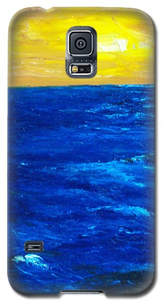 Galaxy S5 Case featuring the painting All Alone by Conor Murphy