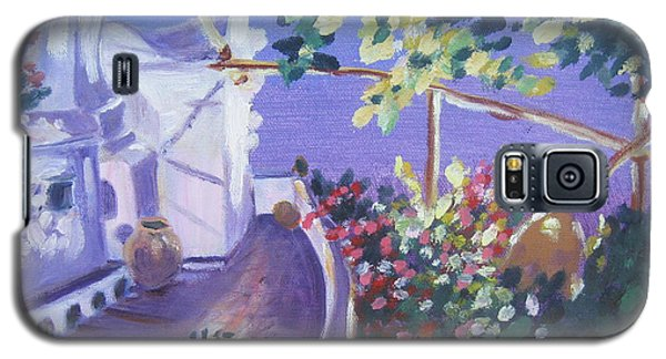 Galaxy S5 Case featuring the painting Amalfi Evening by Julie Todd-Cundiff