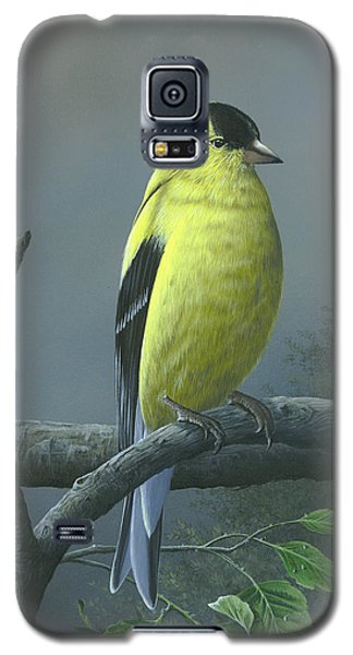 Galaxy S5 Case featuring the painting American Goldfinch by Mike Brown