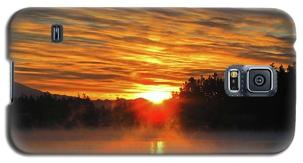 Galaxy S5 Case featuring the photograph American Lake Sunrise by Tikvah's Hope