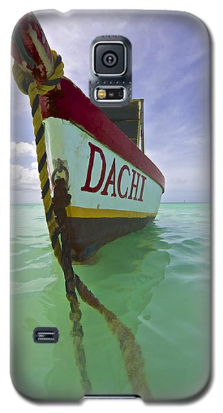 Anchored Colorful Fishing Boat Of Aruba II Galaxy S5 Case