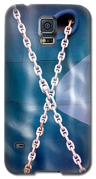 Galaxy S5 Case featuring the photograph Anchored by Richard Piper