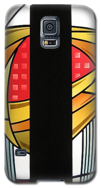 Arts And Crafts Abstract Galaxy S5 Case by Gilroy Stained Glass