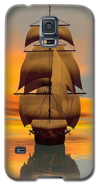 Galaxy S5 Case featuring the digital art At Full Sail by Sandra Bauser Digital Art