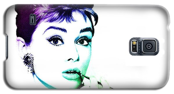 Galaxy S5 Case featuring the digital art Audrey Hepburn by Marianna Mills