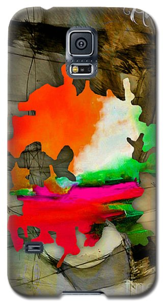 Austin Map Watercolor Galaxy S5 Case by Marvin Blaine