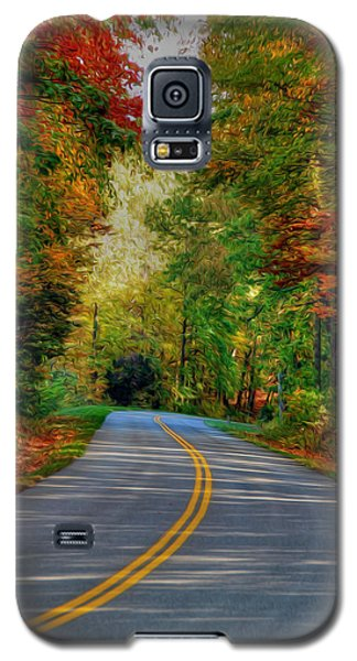 Galaxy S5 Case featuring the digital art Autumn Drive by Kelvin Booker