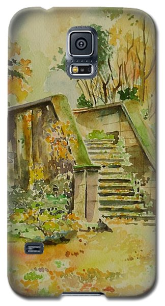 Galaxy S5 Case featuring the painting Autumn by Geeta Biswas