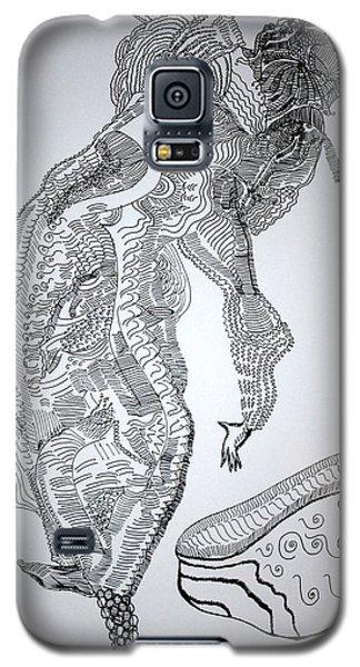 Galaxy S5 Case featuring the drawing Bakiga Dance - Uganda by Gloria Ssali