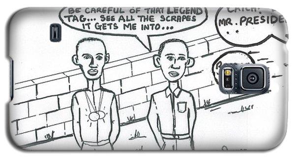 Barack Obama And Usain Bolt Cartoon Galaxy S5 Case