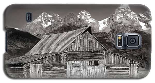 Galaxy S5 Case featuring the photograph Barn And Tetons by Jerry Fornarotto