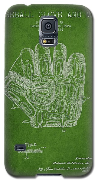 Baseball Gloves Galaxy S5 Case - Baseball Glove Patent Drawing From 1924 by Aged Pixel
