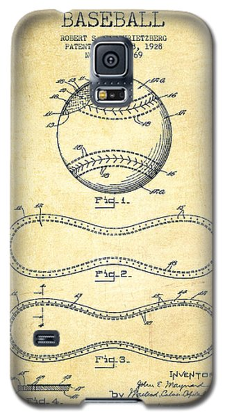 Softball Galaxy S5 Case - Baseball Patent Drawing From 1928 by Aged Pixel