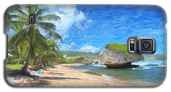 Bathsheba Beach In Barbados Galaxy S5 Case by Verena Matthew