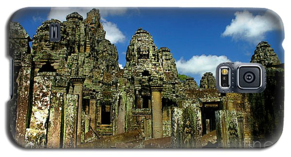 Galaxy S5 Case featuring the photograph Bayon Temple by Joey Agbayani