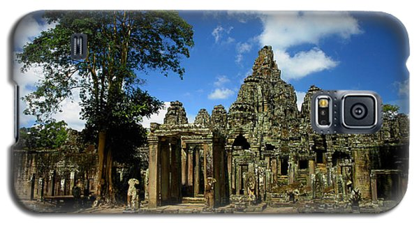 Galaxy S5 Case featuring the photograph Bayon Temple View From The East by Joey Agbayani