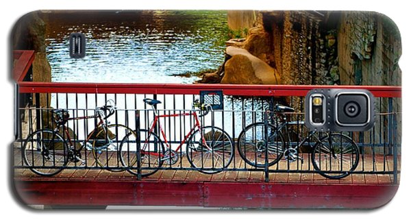 Bikes Over Waller Creek In Austin Galaxy S5 Case