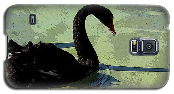 Galaxy S5 Case featuring the photograph Black Swan by Janet Greer Sammons