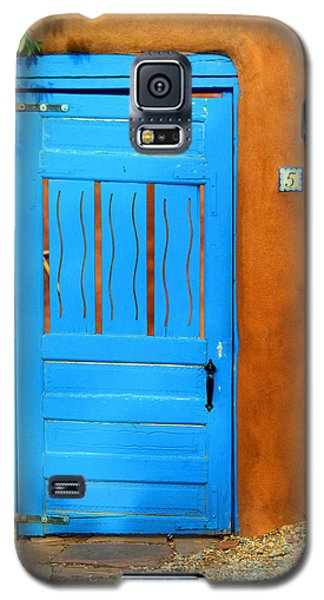Blue Door In Santa Fe Galaxy S5 Case