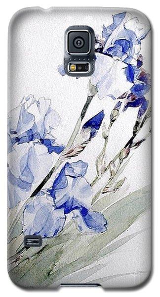 Blue Irises Galaxy S5 Case