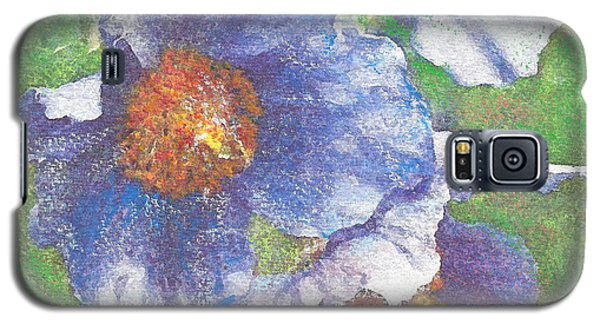 Galaxy S5 Case featuring the painting Blue Poppies by Richard James Digance