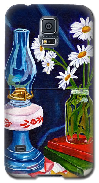 Galaxy S5 Case featuring the painting 2 Books And A Lamp by Laura Forde