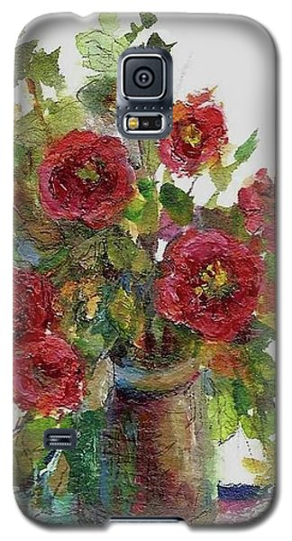 Galaxy S5 Case featuring the painting Bouquet Of Poppies by Mary Wolf
