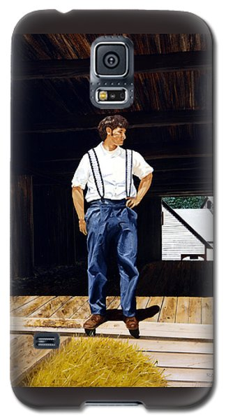 Galaxy S5 Case featuring the painting Boy In The Barn by Ron Haist