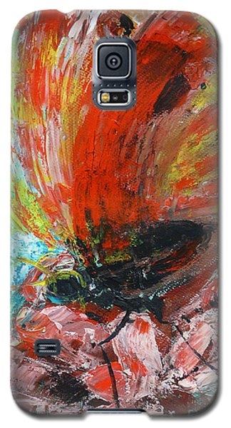 Butterfly And Flower Galaxy S5 Case by Jasna Dragun