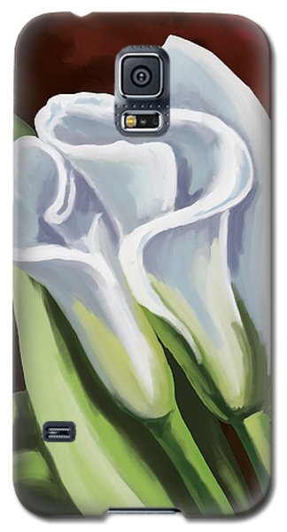 Galaxy S5 Case featuring the painting Calla Lilies by Tim Gilliland
