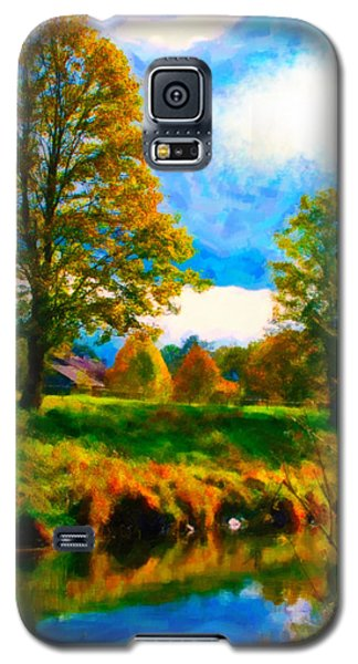 Galaxy S5 Case featuring the digital art Canal 2 by Chuck Mountain