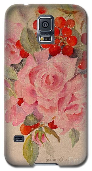 Galaxy S5 Case featuring the painting Cascade by Beatrice Cloake