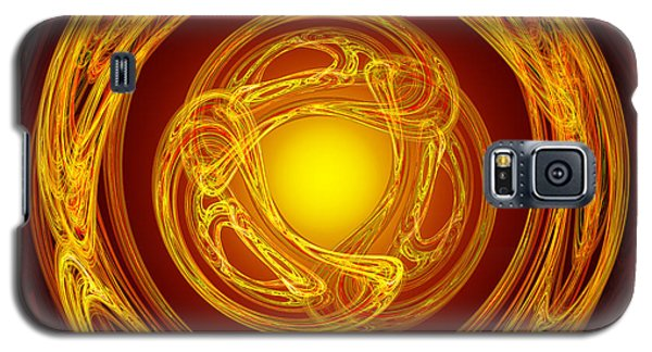 Celtic Abstract On Red Galaxy S5 Case by Jane McIlroy