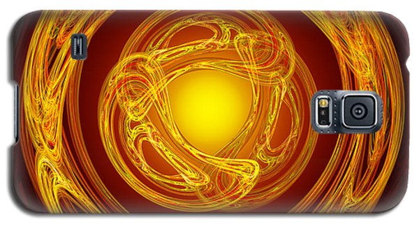 Celtic Abstract On Red Galaxy S5 Case