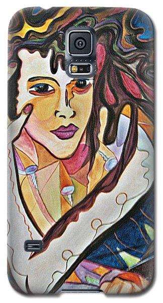 Galaxy S5 Case featuring the painting Changes by Diana Bursztein