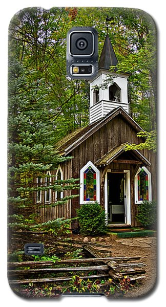 Chapel In The Woods Galaxy S5 Case by Judy  Johnson