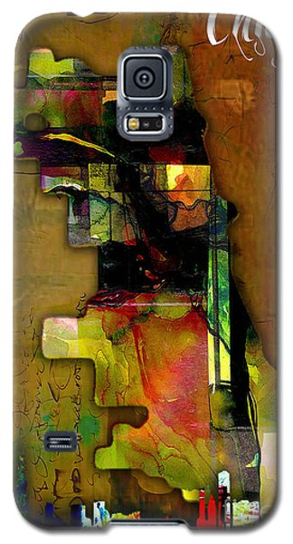 Chicago Map And Skyline Watercolor Galaxy S5 Case