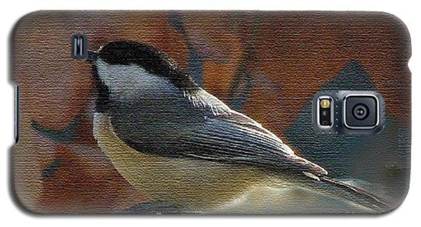 Galaxy S5 Case featuring the photograph Chickadee In Autumn by Janette Boyd