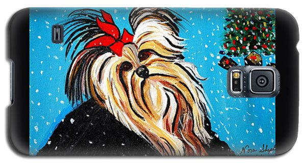 Galaxy S5 Case featuring the painting Christmas Card by Nora Shepley