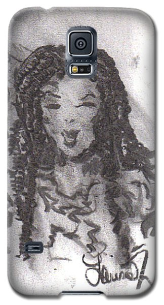Galaxy S5 Case featuring the drawing Colorful Beauty by Laurie L