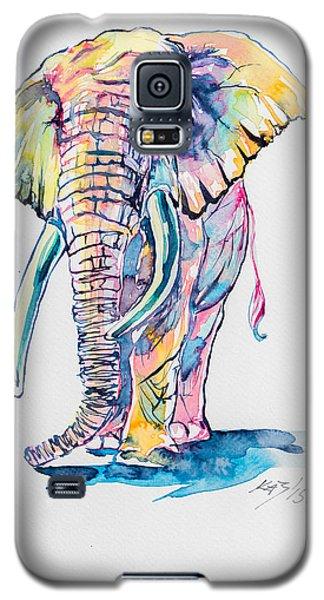 Colorful Elephant Galaxy S5 Case by Kovacs Anna Brigitta