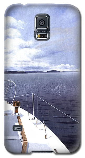 Galaxy S5 Case featuring the painting Cruising North by Gary Giacomelli