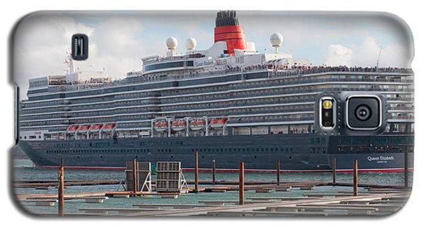 Cunards Queen Elizabeth Galaxy S5 Case by Shirley Mitchell