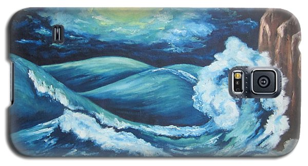 Galaxy S5 Case featuring the painting Deep Water by Cheryl Pettigrew