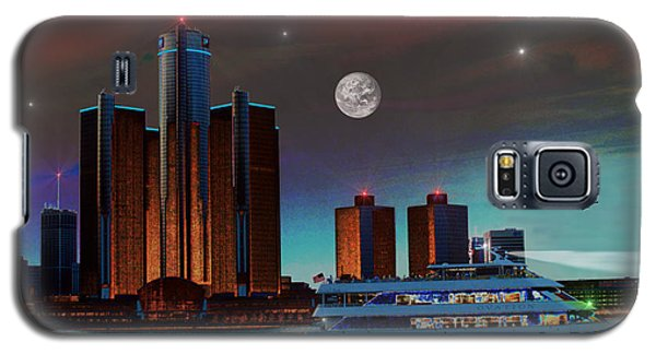 Detroit Skyline Galaxy S5 Case by Michael Rucker