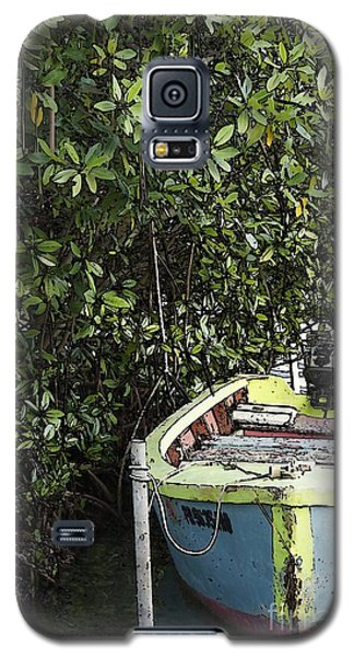 Galaxy S5 Case featuring the photograph Docked By The Mangrove Trees by Lilliana Mendez