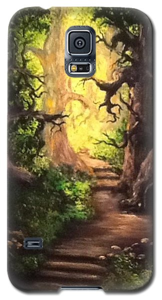 Galaxy S5 Case featuring the painting Druid Forest by Megan Walsh